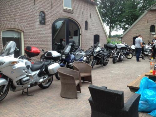 Bikers bij 'T Biesterveld